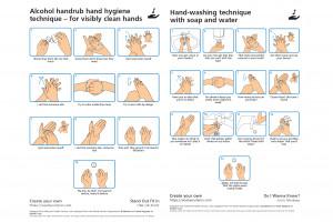 Plakat z instrukcją jak myć ręce - w kilka sekund zrobisz swój własny