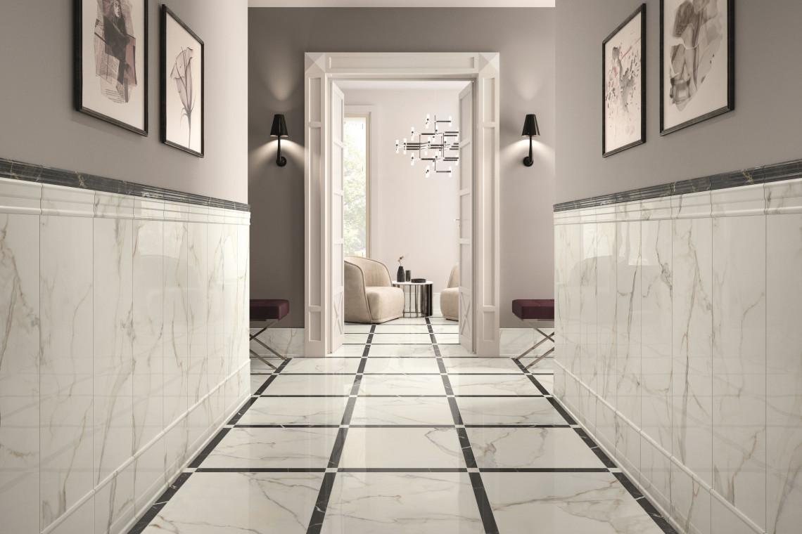 Płytki ceramiczne niczym marmur. Sposób na eleganckie wnętrze
