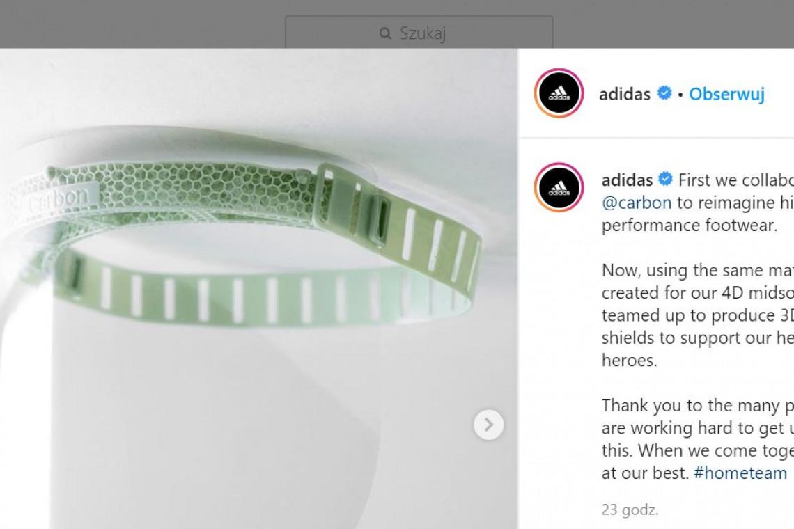 Adidas produkuje przyłbice ochronne
