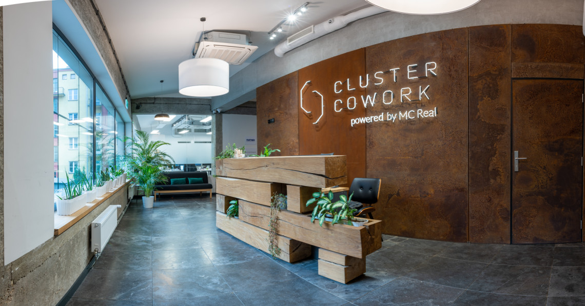 Zaglądamy do Cluster Cowork. To coworking w industrialnym stylu