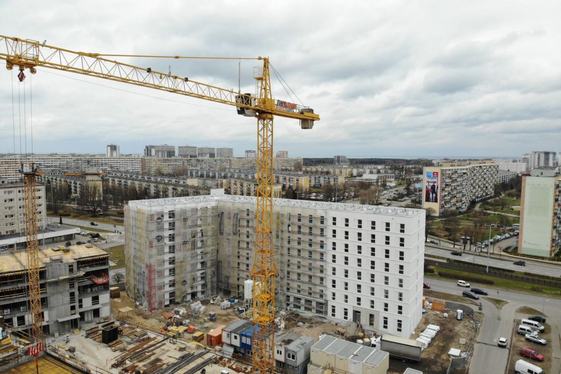 Mimo pandemii, przyspieszają prace na budowie akademika Student Depot w Gdańsku