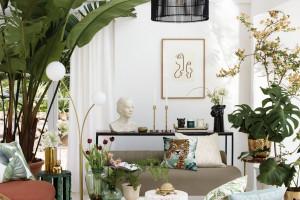Zieleń, złoto i natura, czyli wiosenna kampania H&M Home