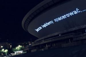 Unikatowa projekcja świetlna na fasadzie katowickiego Spodka