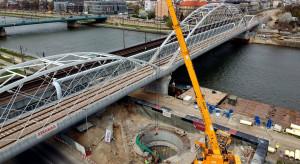 Pierwszy most kolejowy nad Wisłą w Krakowie - gotowy