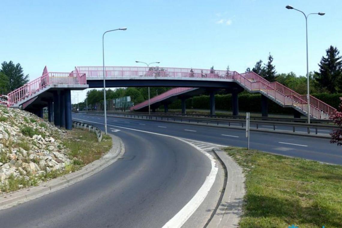 Poznań remontuje kładkę nad ulicą Lechicką