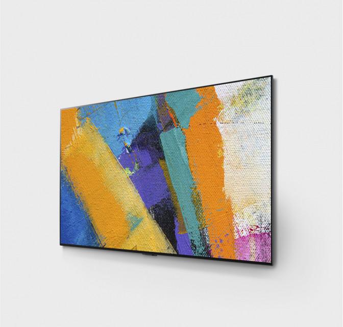 Ultracienki telewizor niczym dzieło sztuki