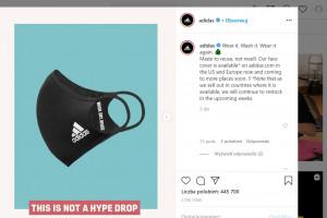 Adidas wprowadził do oferty maseczki