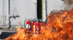 Pożar w Muzeum Sztuki Nowoczesnej