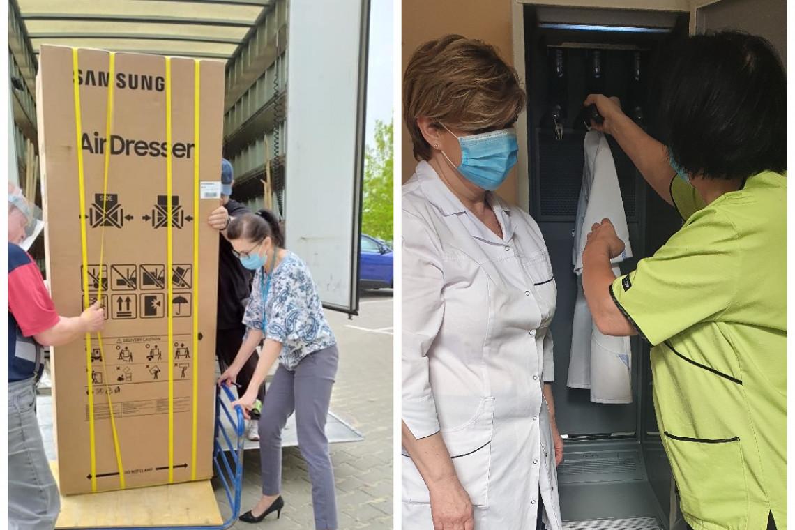 Szafy odświeżające trafiły do szpitali zakaźnych