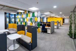 Oto najnowsza siedziba Commerzbanku. Zaprojektowano przestrzeń dla zwinnej pracy