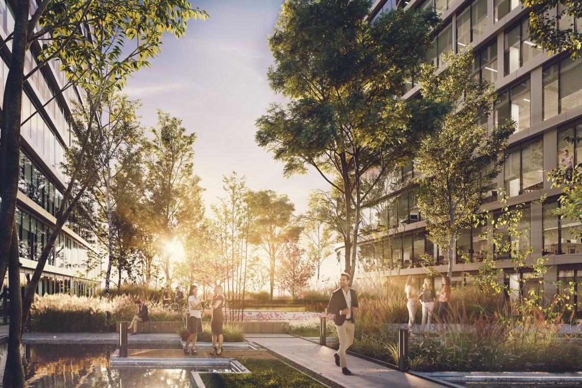 To pierwszy w Katowicach projekt mixed-use takiej skali. Trwa budowa Global Office Park