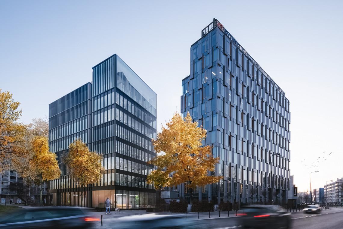 Nowa bryła biurowa w Warszawie z wiechą. To projekt Open Architekci