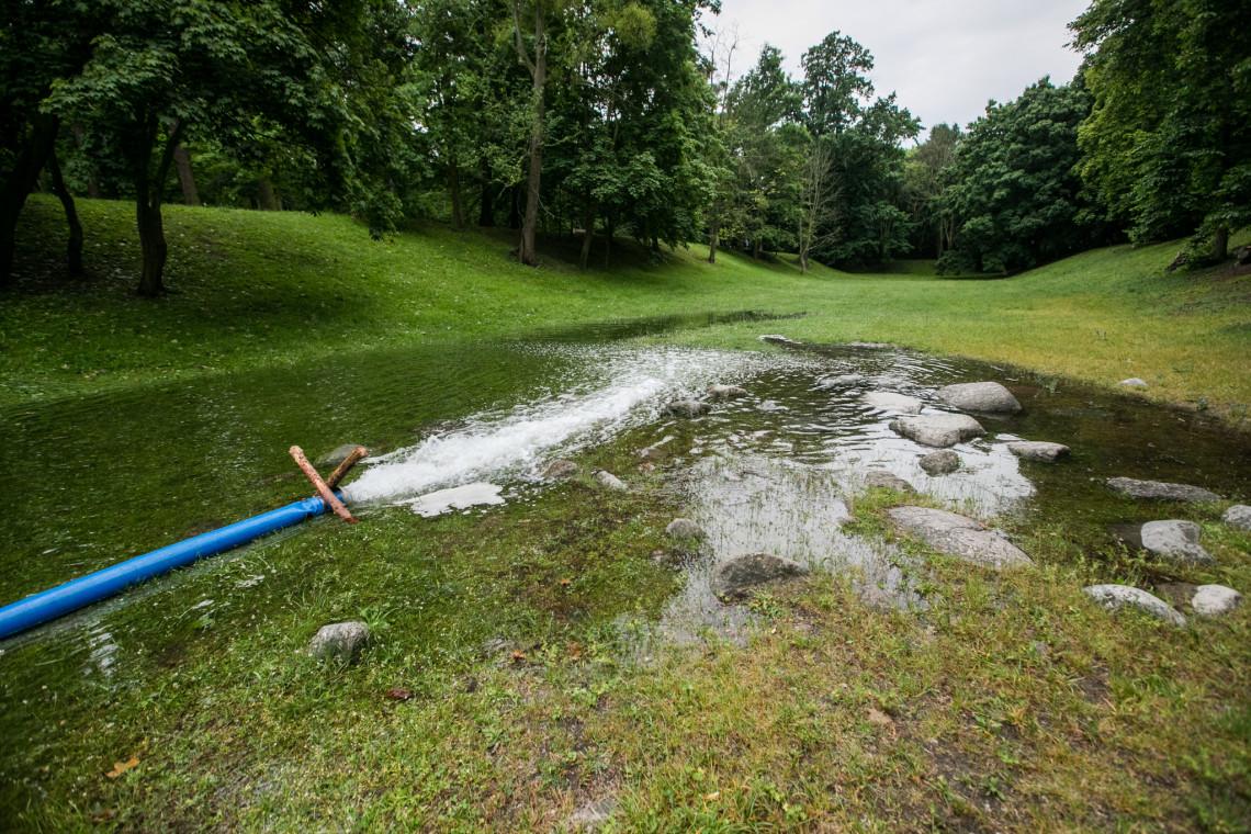 Więcej wody w zabytkowym Parku Przymorze