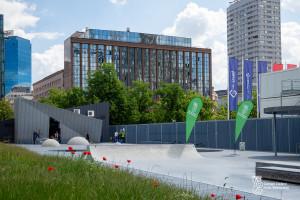 Dla miłośników sportów miejskich. Nowa przestrzeń w centrum Warszawy