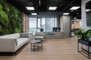 Oto najnowsza siedziba CHEP Polska. Industrialne w klimacie, ale przede wszystkim zrównoważone biuro