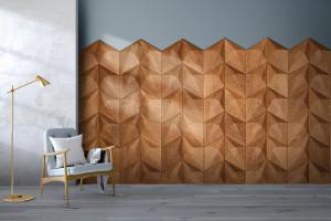 Moduły ścienne 3D z drewna. To będzie hit?