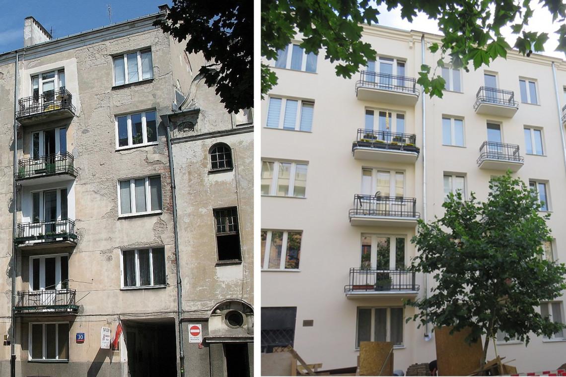 Modernistyczna kamienica na warszawskiej Pradze odzyskuje blask
