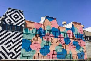 Fabryka Porcelany już z nowym muralem. Nawiązuje do architektury Katowic