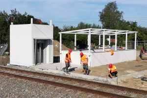 Przejście podziemne na stacji Pabianice już niemal gotowe
