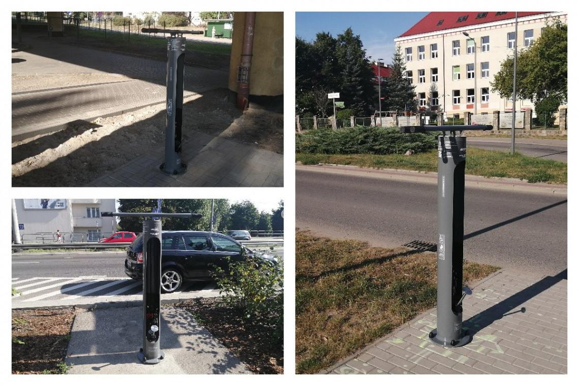Na gdyńskich ulicach pojawiły się nowe samoobsługowe stacje do napraw rowerów