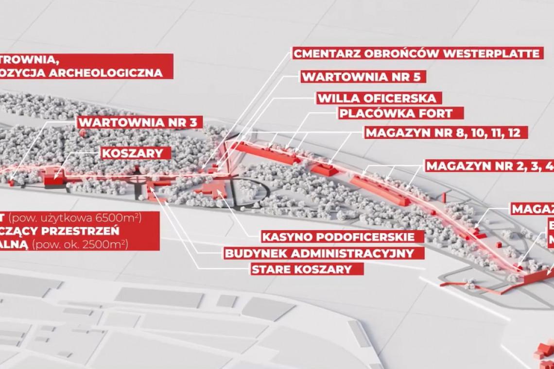 Pokazano koncepcję plenerowego Muzeum Westerplatte i Wojny 1939