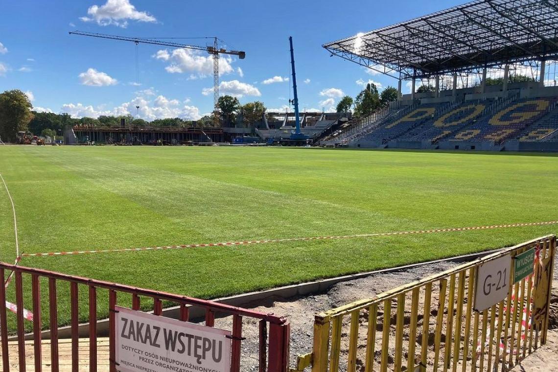 Postępują prace budowlane na Stadionie Miejskim w Szczecinie
