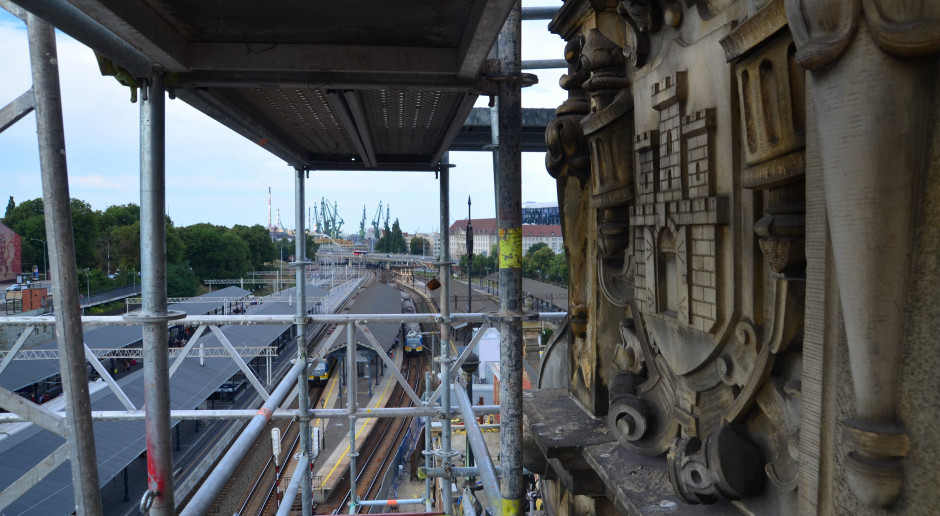 Zobacz, jak zmienia się dworzec Gdańsk Główny