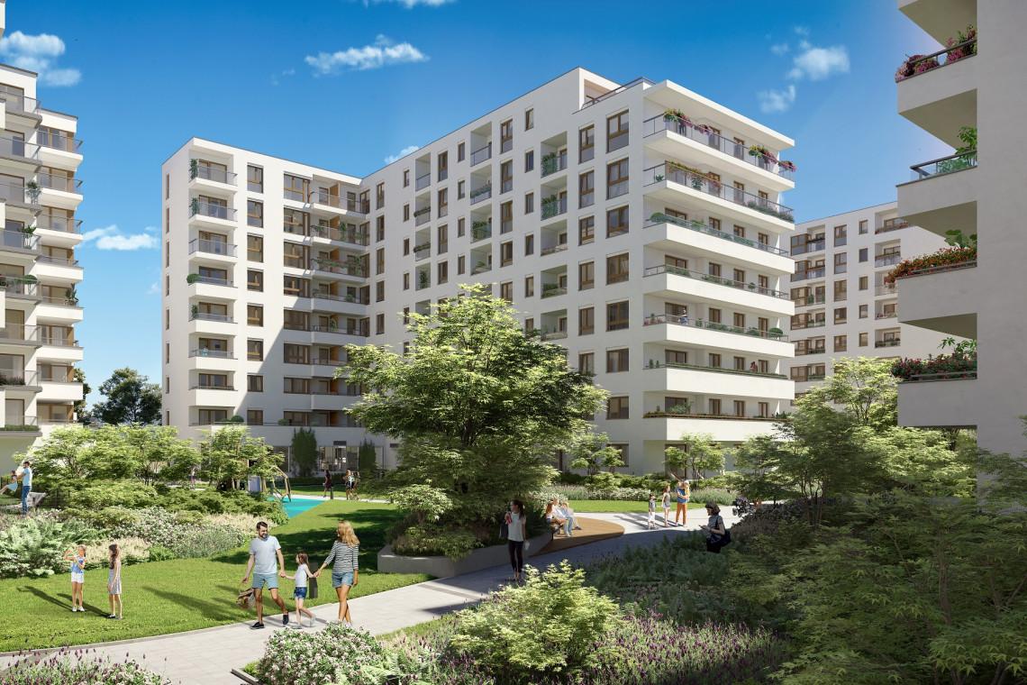 Warszawska inwestycja z osiedlową elektrownią słoneczną i społecznym ogrodem uprawnym