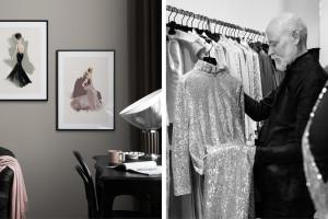 Houte couture we wnętrzach. Kolekcja ilustracji zainspirowanych kreacjami Larsa Wallina
