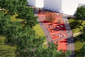 Pomysł na przestrzeń publiczną na terenie łódzkich zakładów. Wygrali studenci z Politechniki Śląskiej