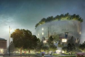 Wyjątkowy projekt MVRDV już z wiechą. Jego dach porasta prawdziwy las