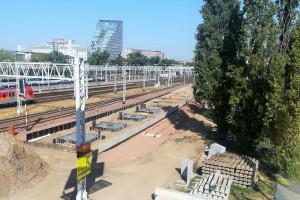 Stacja Poznań Główny z nowym peronem i przejściem podziemnym