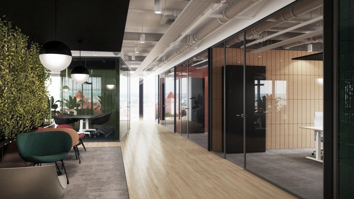 Nowe centrum biznesu w Poznaniu zaskoczy designem. Tak mogą wyglądać wnętrza Andersia Silver