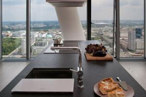 Luksusowy apartament na szczycie warszawskiego wysokościowca