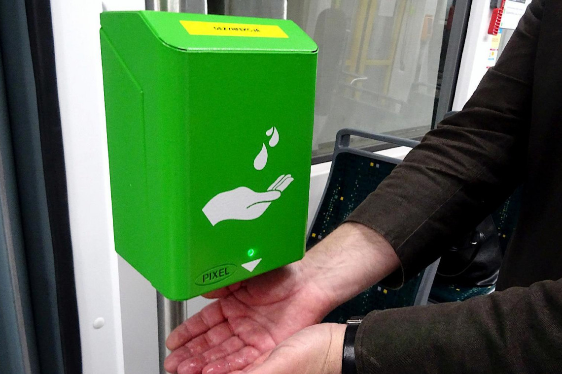 Poznański transport publiczny z nowymi dezynfekatorami