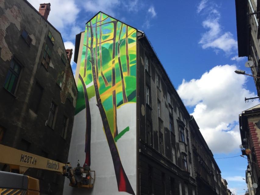 Pierwszy antysmogowy mural powstaje w Bielsku-Białej