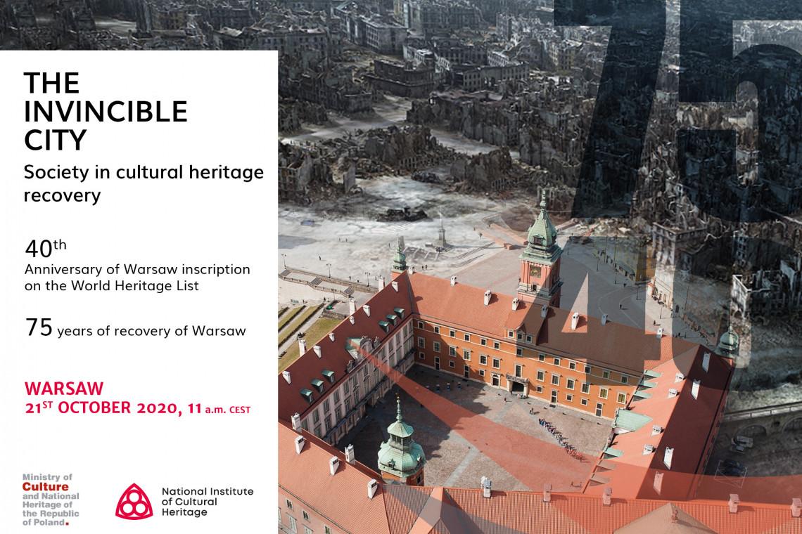 Międzynarodowe webinarium z okazji 40-lecia wpisu warszawskiej starówki na listę UNESCO