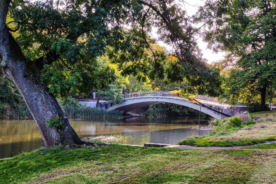 Zabytkowy mostek nad Rusałką jak nowy