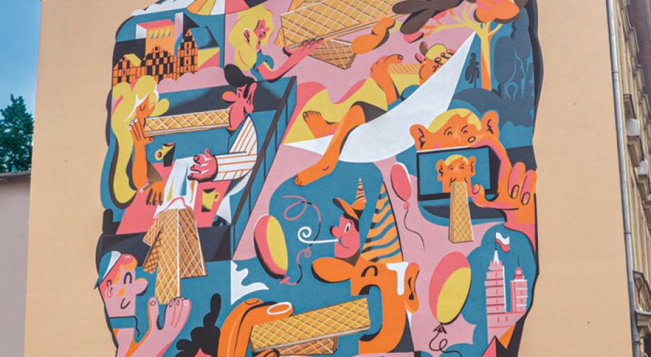 W Bydgoszczy swój mural mają... Wafle Familijne