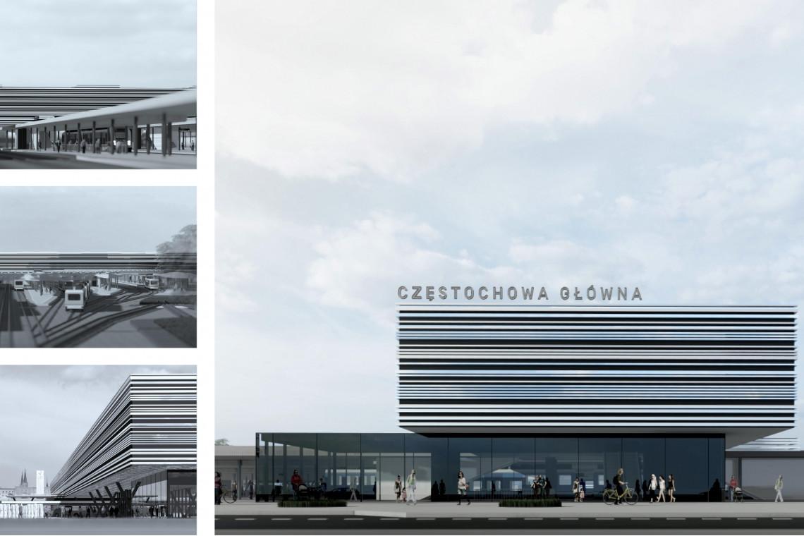 Przebudowa dworca Częstochowa Główna coraz bliżej. Rozpoczęto prace projektowe