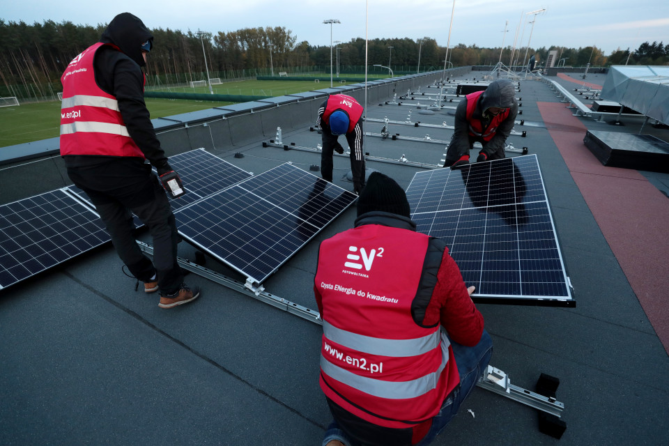 Legia Training Center z własną elektrownią słoneczną