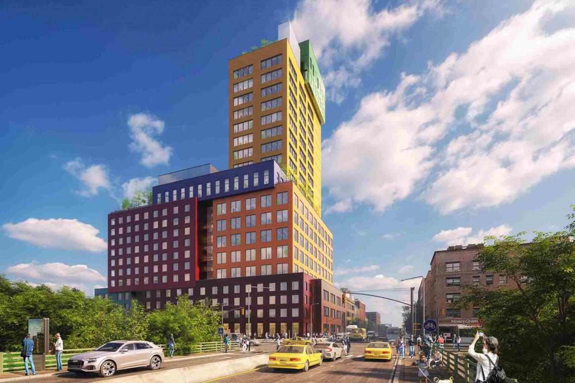 Bryła tego budynku ma osiem różnych kolorów! Kolejny odważny projekt MVRDV