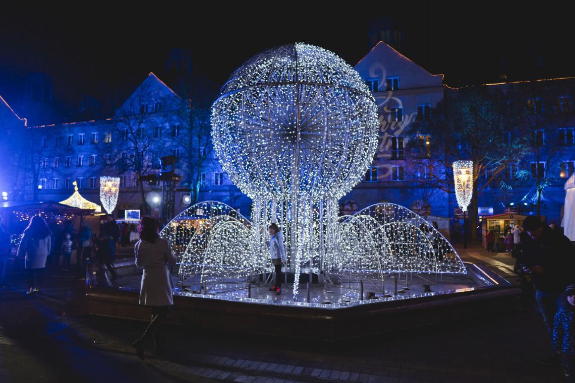 Świąteczne oświetlenie w Tychach