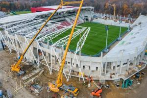 Co słychać na budowie stadionu ŁKS w Łodzi?