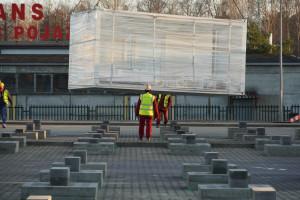 Zaglądamy na budowę szpitala tymczasowego w Ostrołęce