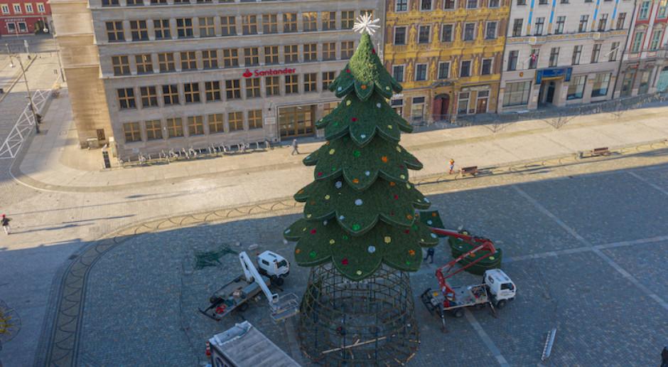 Wrocław stroi się na święta. Iluminacje rozbłysną już w Mikołajki