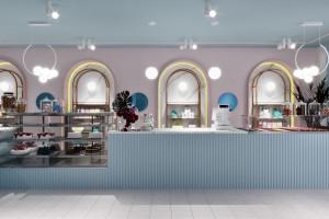 Żurawicki Design zaprojektowali wnętrza cukiernio-lodziarni w Londynie