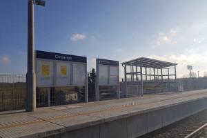Przystanek kolejowy w Ciecierzynie już po przebudowie