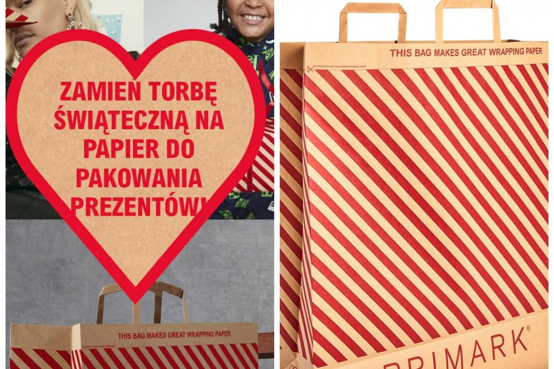 Torba zakupowa zmienia się w papier do pakowania prezentów. Eko-pomysł od znanej marki