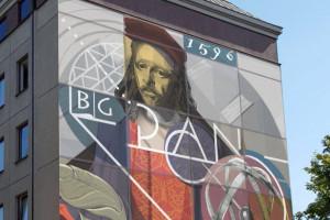 Mural z wizerunkiem Heweliusza będzie zdobił budynek biblioteki gdańskiej Polskiej Akademii Nauk